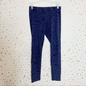 Old Navy | Navy Patterned Cotton Leggings